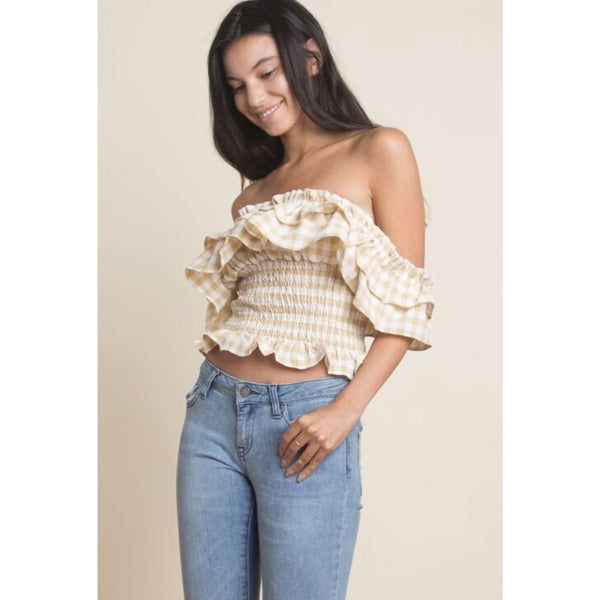 Gingham Off Shoulder Top - Best YOU by HTS