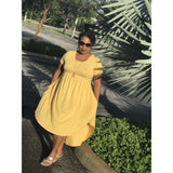 Golden Yellow Casual Swing Dress - Best YOU by HTS