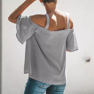 Grey Cold-Shoulder Top - Best YOU by HTS