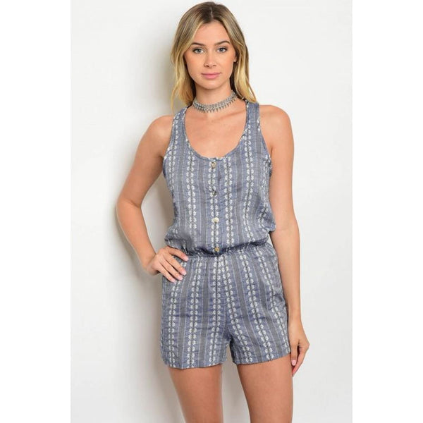 Indigo & Ivory Romper - Best YOU by HTS