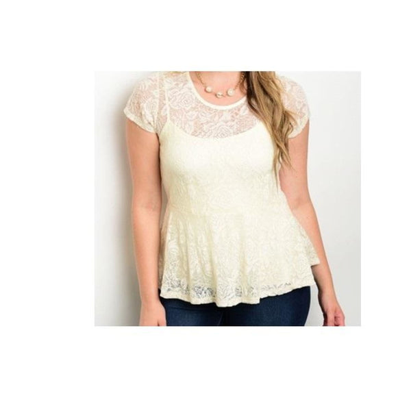 Lace Peplum Top - Best YOU by HTS