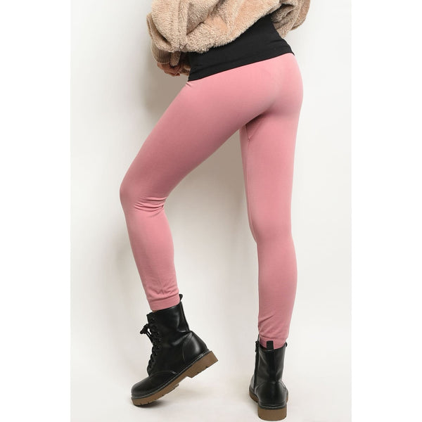 Mauve One Size Regular Leggings - Best YOU by HTS