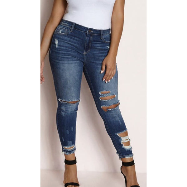 Mid Rise Destroyed Jeans - Best YOU by HTS