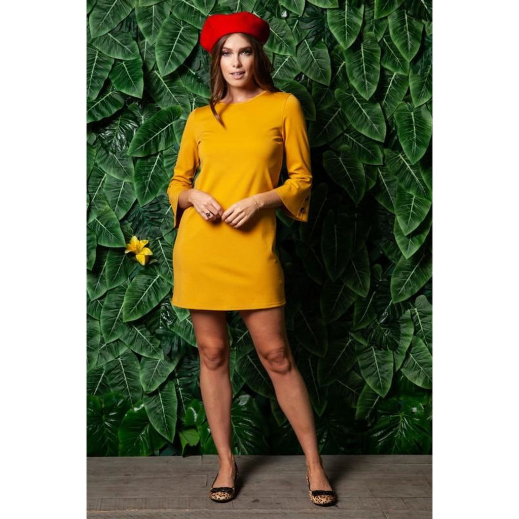 Mustard Bell Shift Dress - Best YOU by HTS
