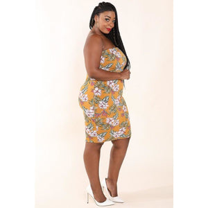 Mustard Floral 2PC Dress Set - Plus - Best YOU by HTS