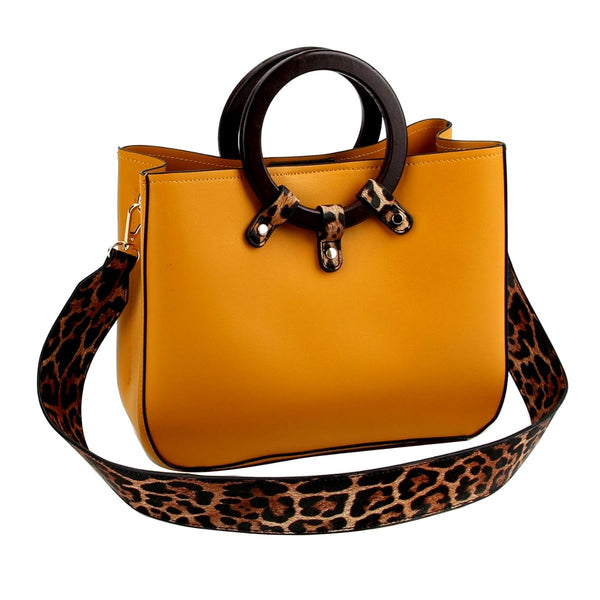 Leopard Mustard Handbag Best YOU by HTS Accessories