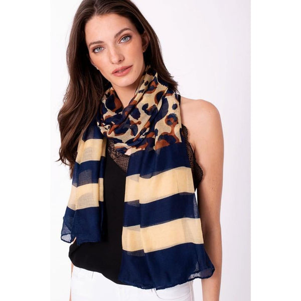 Navy and Beige Scarf - Best YOU by HTS