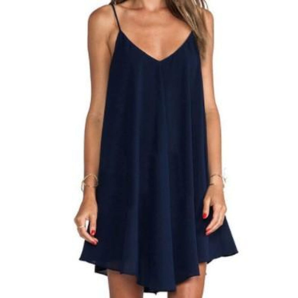 Navy Plus Flare Dress - Best YOU by HTS