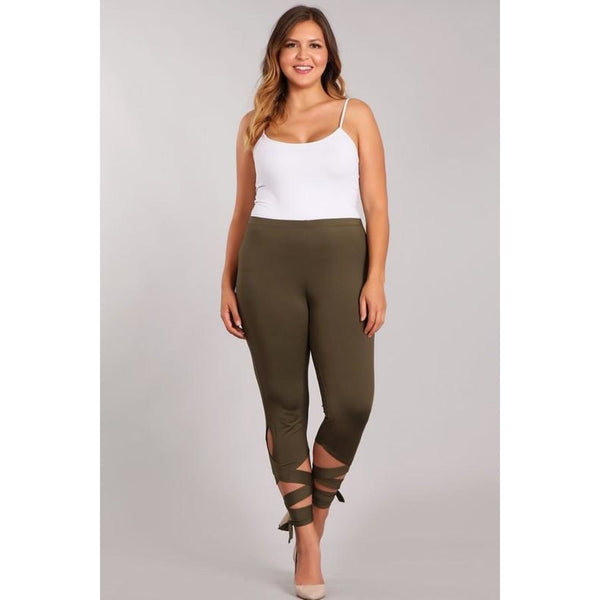 Olive Ballerina Tie Plus Leggings - Best YOU by HTS