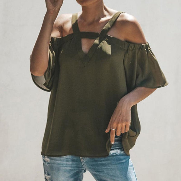 Olive Cold-Shoulder Top - Best YOU by HTS