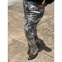Paisley Print Plus Pants - PANTS