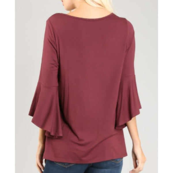 Pale Plum Bell Sleeve Plus Top - Best YOU by HTS