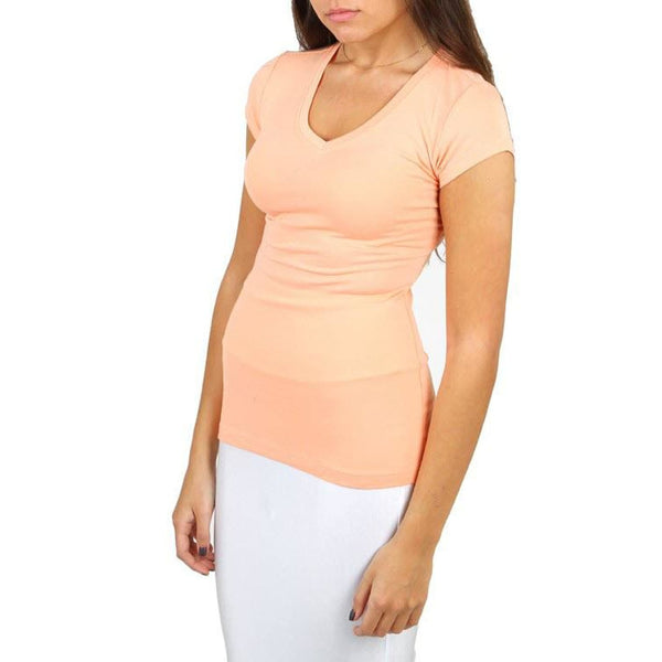 Peach Curvaceous Plus Size Tee Top - Best YOU by HTS