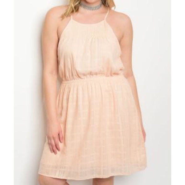 Peach Plus Size Dress 16/18 - Best YOU by HTS