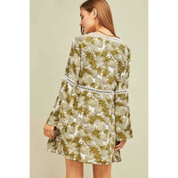 Pineapple Print Dress - DRESSES