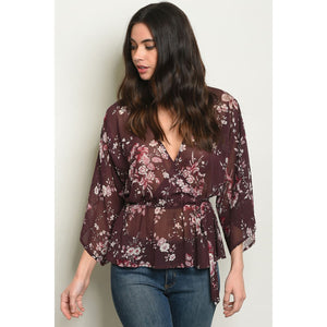 Plum Floral Top - Best YOU by HTS