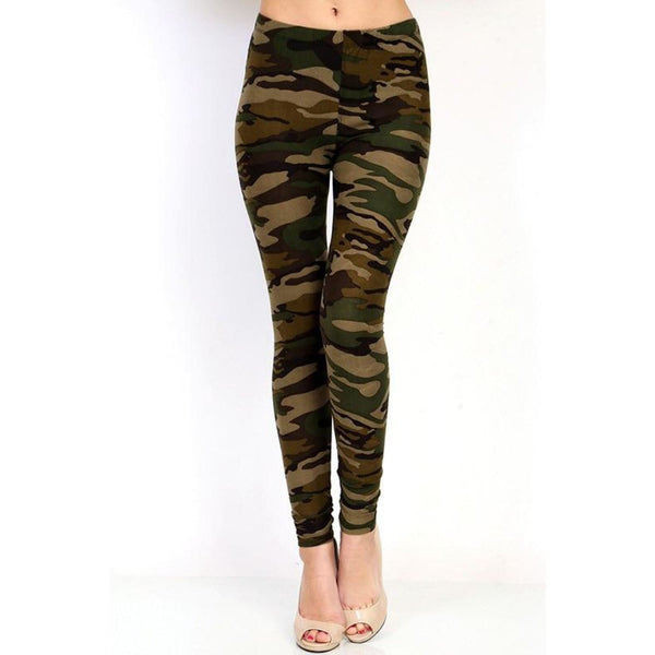 Plus Size Camouflage Leggings - Best YOU by HTS