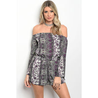 Purple and Sage Romper - Best YOU by HTS
