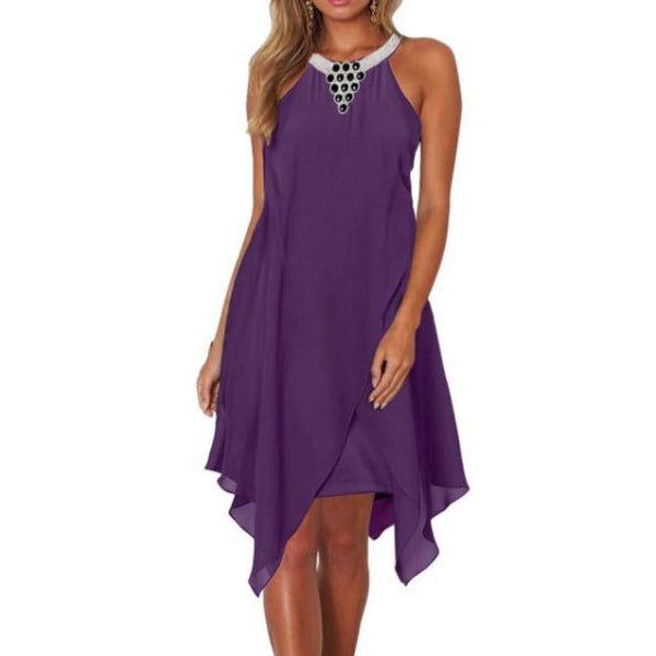 Purple Handkerchief Dress - Medium - Best YOU by HTS