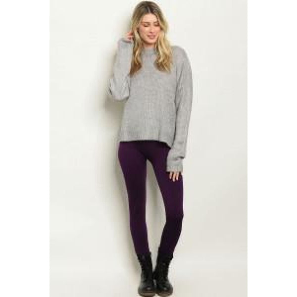 Purple One Size Regular Leggings - Leggings