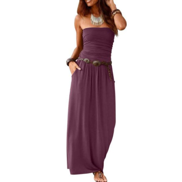 Purple Strapless Maxi Dress - Best YOU by HTS