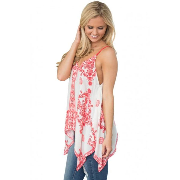 Plus Red Flare Tank Top - Best YOU by HTS