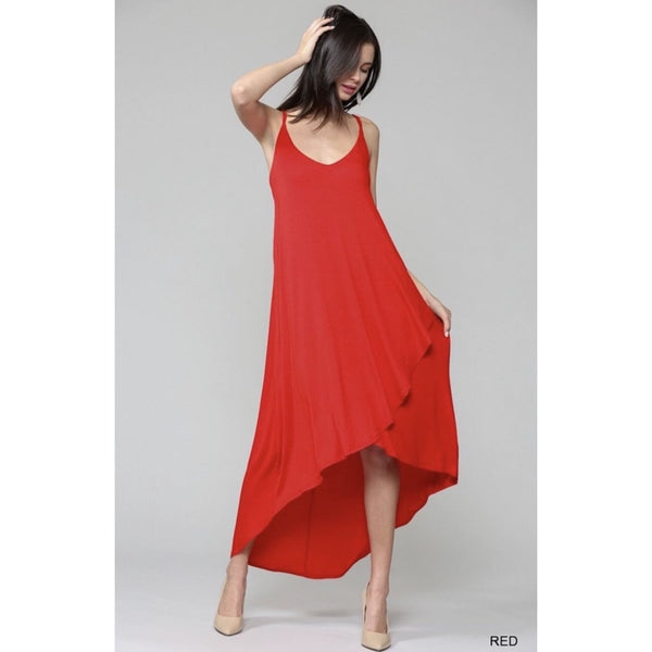 Red Hot Maxi Dress - DRESSES