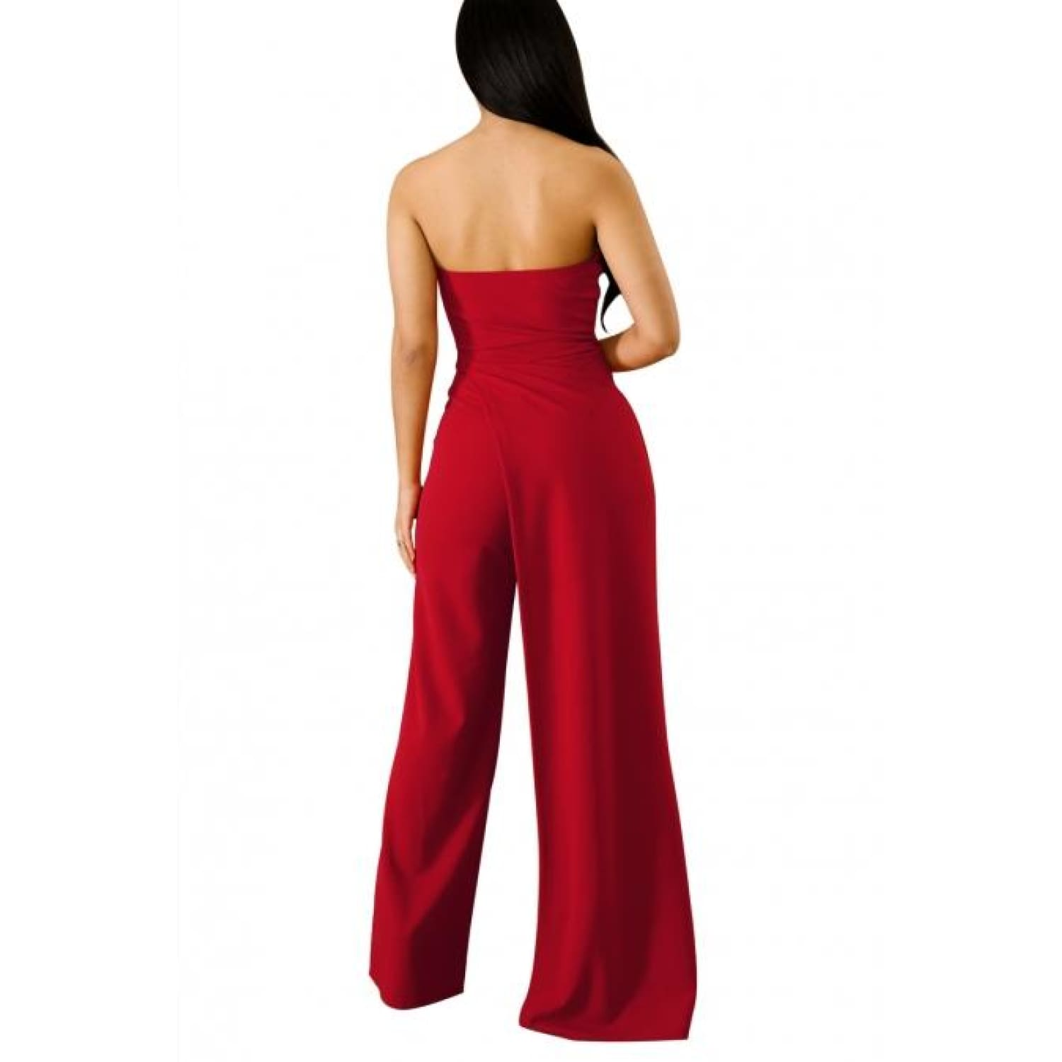 Red Open Leg Jumpsuit - Best YOU by HTS