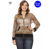 Sheer Mesh Cheetah Jacket