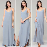 Shift Maxi Dress with Side Slits - DRESSES