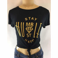 Stay Humble Hustle Hard Plus Crop Top - Best YOU by HTS