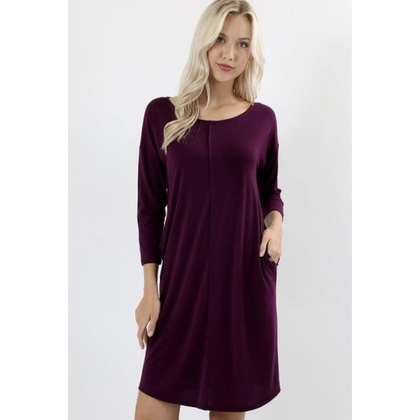 Sweet Plum Dress - Best YOU by HTS
