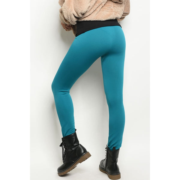 Teal One Size Regular Leggings - Best YOU by HTS