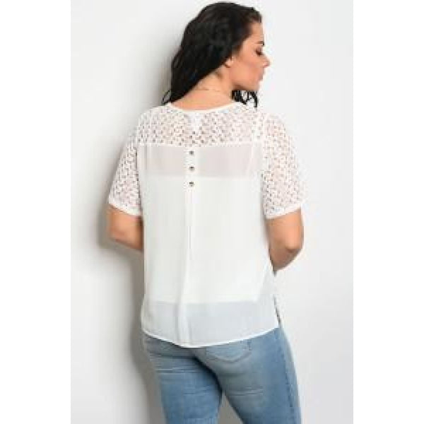 Two- Piece Lace Chiffon Top - Best YOU by HTS