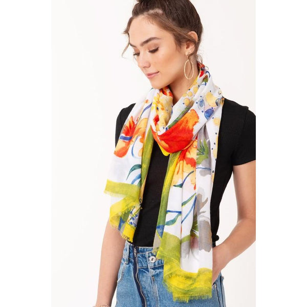 Water Paint Floral Scarf - Best YOU by HTS
