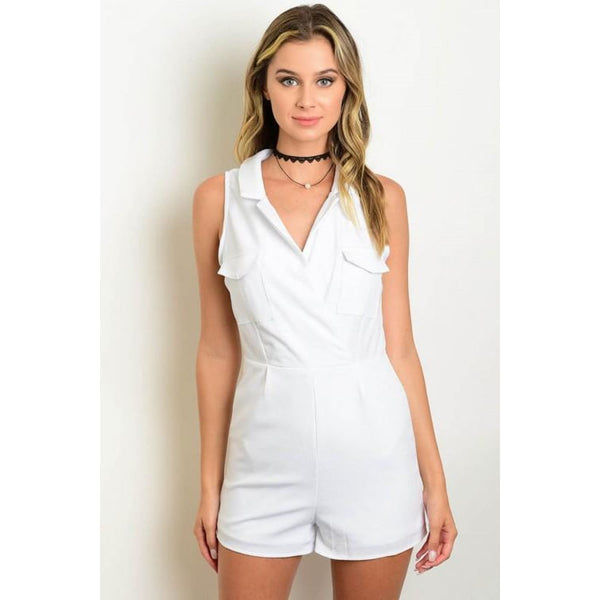 White Cotton Romper - Best YOU by HTS