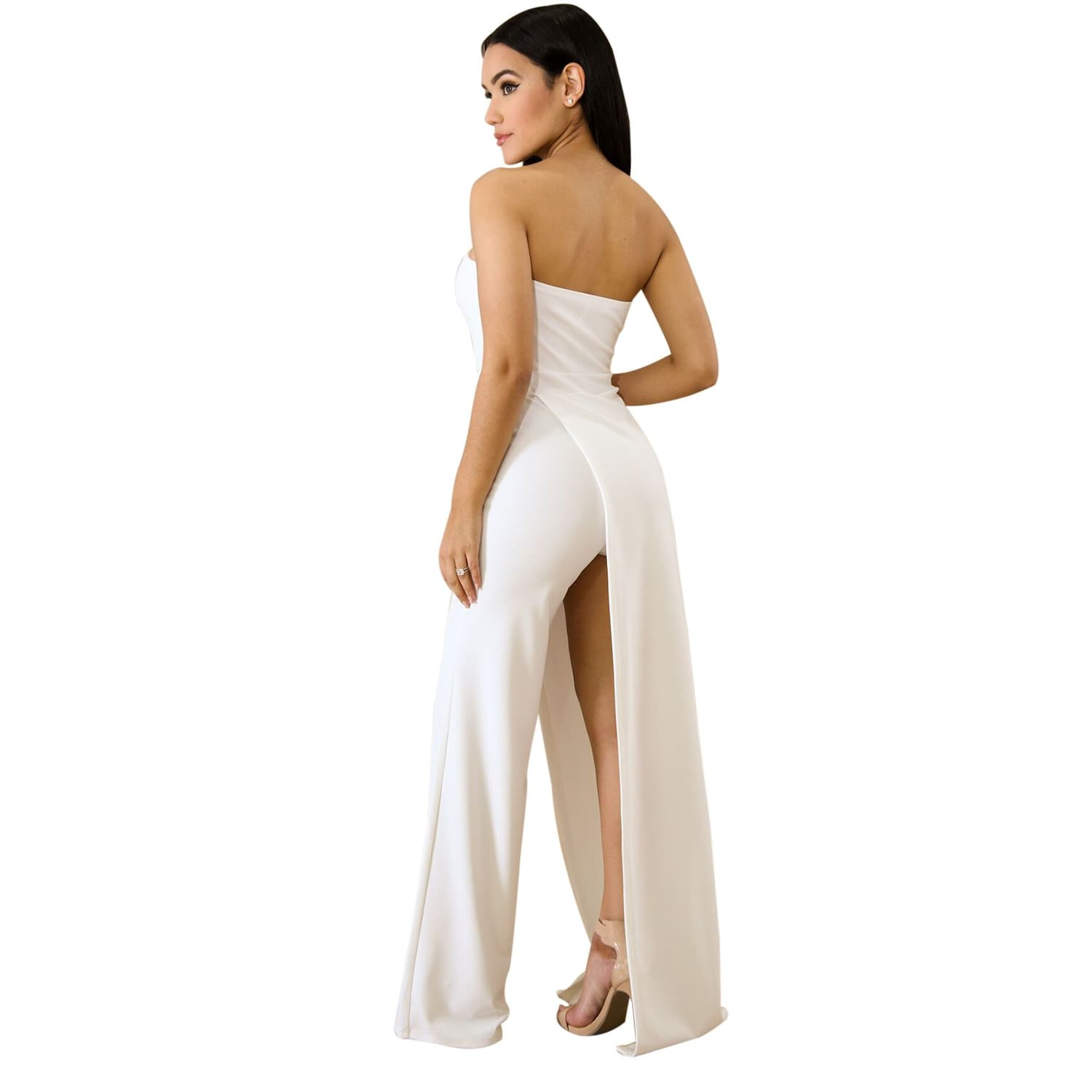 White Open Leg Jumpsuit - Best YOU by HTS