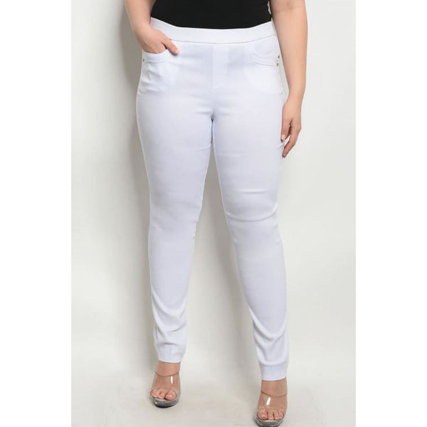 White Pencil Pants Plus - Best YOU by HTS