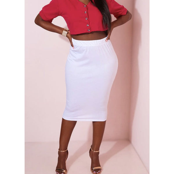 White Pencil Skirt - Best YOU by HTS