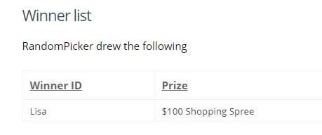 Mothers Day Giveaway Winner Has Been Chosen!