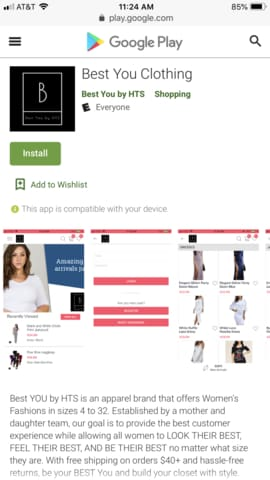 Best You Clothing Shopping App