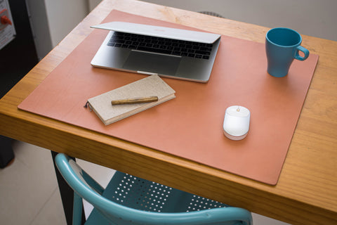 12 COLORS - Pink Buttero Leather Desk / Keyboard & Mouse Pad