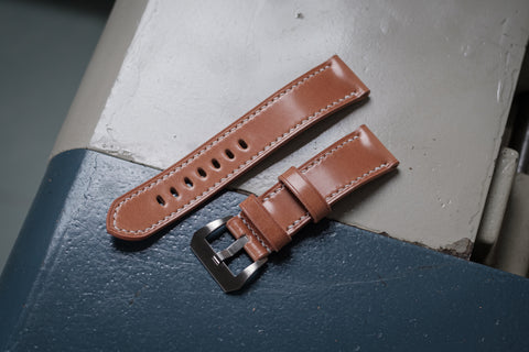 Natural Shell Cordovan Leather Standard Strap for Panerai (22, 24 or 26 mm)