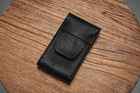 Black Minerva Box Vegetable tanned Leather Watch Pouch (Type B)
