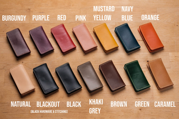14 COLORS - Leather SD Card, Switch Game Card Holder - Eternal Leather Goods