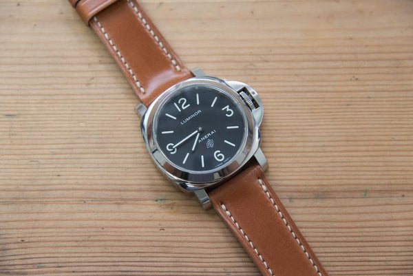 Whiskey Shell Cordovan Leather Standard Tapered Strap for Panerai (22, 24 or 26 mm)