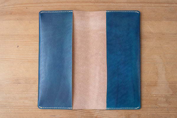 Navy Blue Minimalist Hobonichi Weeks (Mega) Leather Cover