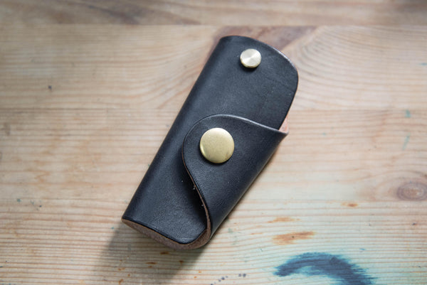 Black Leather Key Case