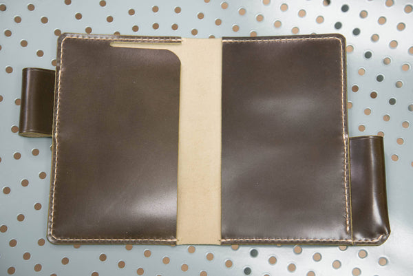 7 COLORS - Olive Green Shinki-Hikaku Shell Cordovan Field Notes Interlocking Cover