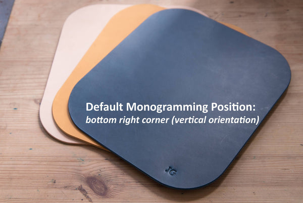 12 COLORS - Mustard Yellow Buttero Leather Mouse Pad - Eternal Leather Goods